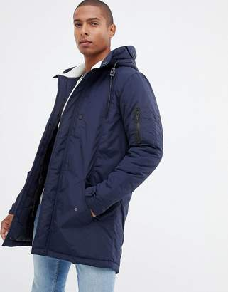 Brave Soul Fleece lined Hooded Parka Jacket