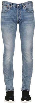 Levi's 501 Skinny Washed Denim Jeans