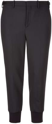 Neil Barrett Elasticated Hem Tapered Trousers