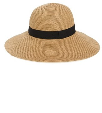 Women's Halogen Floppy Hat - Brown $39 thestylecure.com