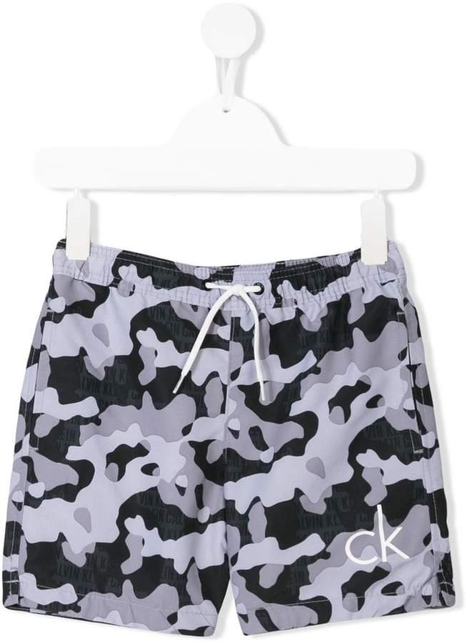 Calvin Klein Kids camouflage-print shorts