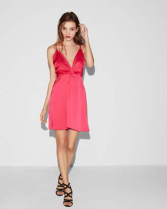 Express Petite Twist Front Cami Dress