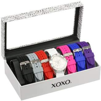 XOXO Women's Analog Watch with Silver-Tone Case