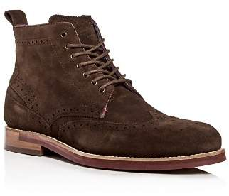 Ted Baker Men's Shennjo Suede Brogue Wingtip Boots