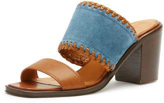 Frye Ashley Suede & Leather Mule Sandal