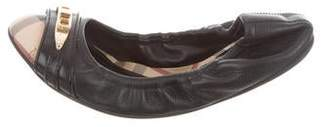 Burberry Nova Check Cap-Toe Flats