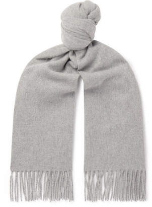 Acne Studios Canada Fringed Melange Wool Scarf - Men - Gray
