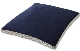 Williams-Sonoma Williams Sonoma Velvet Pillow Cover with Greek Key Trim, Navy