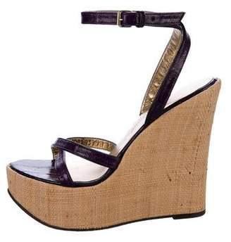 Dolce & Gabbana Eel Wedge Sandals