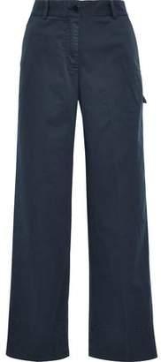 Theory Stretch-cotton Twill Wide-leg Pants
