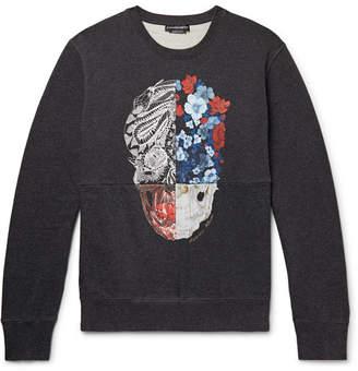 Alexander McQueen Printed Loopback Cotton-Jersey Sweatshirt - Men - Charcoal