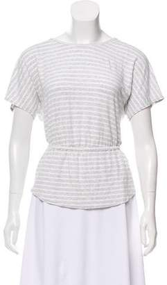 Trina Turk Stripe Short Sleeve Top