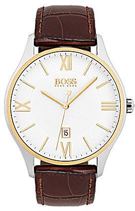 Hugo BossBOSS Hugo Boss BOSS Governor Analog & Date Leather-Strap Watch
