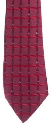 Hermes Belt Motif Silk Tie