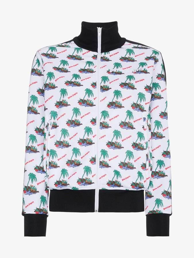 Palm print sports jacket