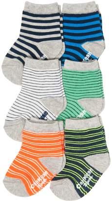 Osh Kosh Oshkosh Bgosh Baby / Toddler Boy 6-pack Striped Crew Socks