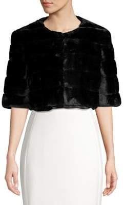 Eliza J Faux Fur Cropped Coat