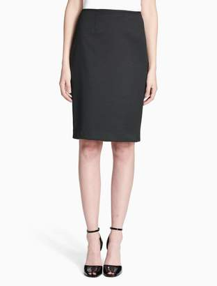 Calvin Klein dot pencil skirt
