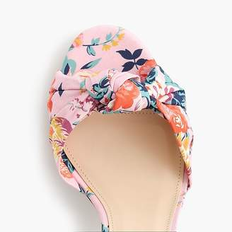 Knotted high-heel sandals in Liberty® floral
