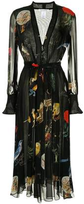 Oscar de la Renta Enchanted forest print dress