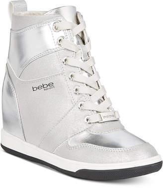 Bebe Sport Charlane Wedge Sneakers Women Shoes