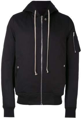 Rick Owens Flight hooded bomber jacket
