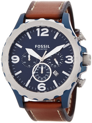 Fossil Men&s Nate Chronograph Quartz Watch $155 thestylecure.com