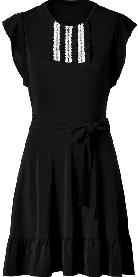 RED Valentino Valentino R.E.D. Black Dress with Ruffles