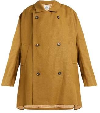 Vivienne Westwood Gabelle Hemp Trench Coat - Womens - Khaki