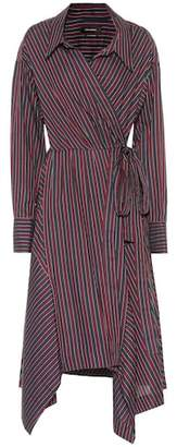 Isabel Marant Mila striped cotton wrap dress