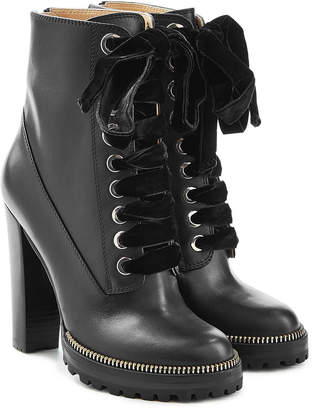Sergio Rossi Camilla Leather Ankle Boots
