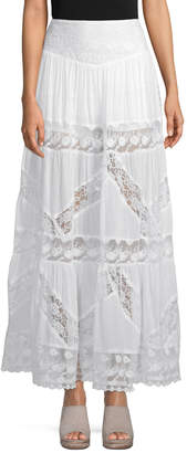 Free People Women's Lace Maxi Skirt