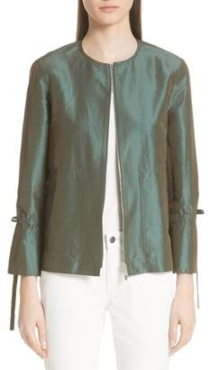 Lafayette 148 New York Johnsie Satin Jacket