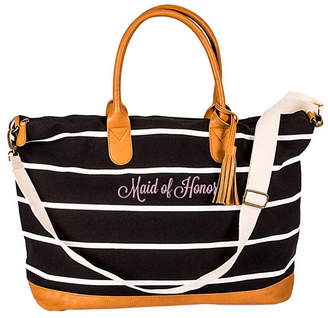 Cathy's Concepts Cathy Concepts Maid Of Honor Striped Weekender Tote