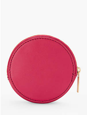 John Lewis Scout Leather Circle Coin Purse