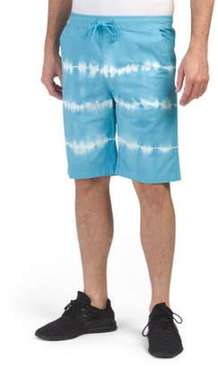 Tie Dye Stripe Poplin Shorts