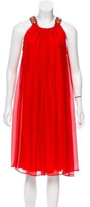 Lanvin Embellished Silk Dress