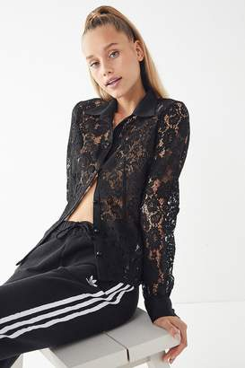 Urban Outfitters Lace Button-Down Shirt