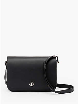 Kate Spade Nicola Leather Small Flap Over Shoulder Bag, Black