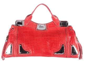 Gucci Crocodile Race Bag