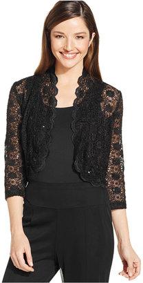 R&M Richards Scalloped Sequin Lace Bolero $39 thestylecure.com