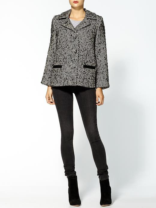 Milly Stanley Graphic Diagonal Tweed Jacket