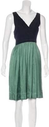 Vena Cava Silk Sleeveless Knee-Length Dress