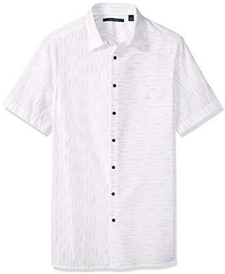 Perry Ellis Men's Big and Tall Short Sleeve Slub Space Dye Shirt