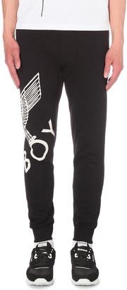 Boy London Eagle print cotton-jersey jogging bottoms $79 thestylecure.com