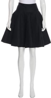 Alaia A-line Textured Skirt