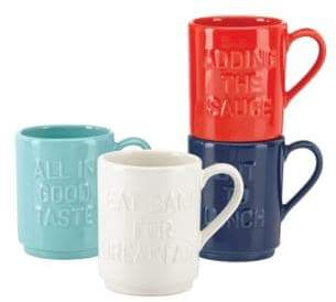 Kate Spade Four-Piece Idiom Stacking Mug Set