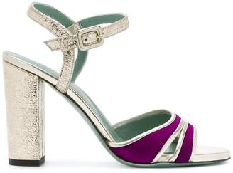 Paola D'arcano metallic two-tone sandals