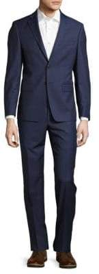 Calvin Klein Extreme Slim-Fit Solid Polished Wool Suit