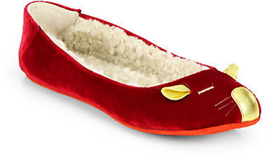 Marc by Marc Jacobs Sleeping Mouse Velvet Slippers